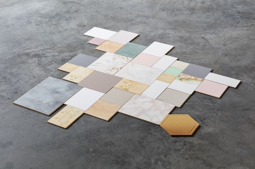 Yasemin Özcan, To Remember Everything Is a Form of Madness 2/40, 2016, ceramic tiles, dimensions variable.