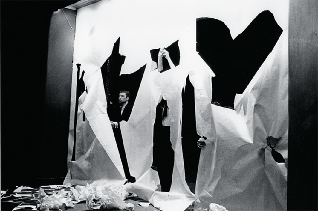Benjamin Patterson, Paper Piece, 1960. Performance view, Hypokriterion Theater, Amsterdam, June 23, 1963.