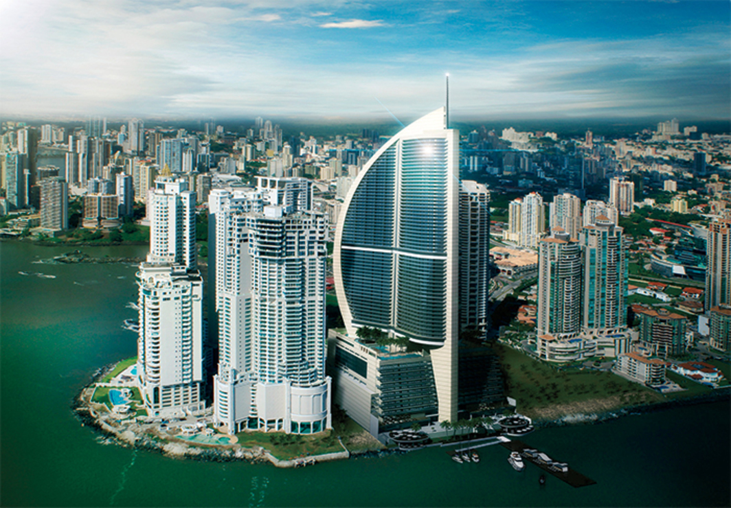 Arias Serna Saravia, Trump Ocean Club International Hotel & Tower, 2011, Panama City. Rendering.
