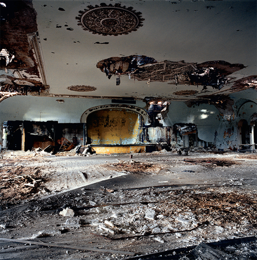 "Rhona Bitner, Grande Ballroom, Detroit, MI, October 29, 2008, C-print, 40 × 40"". From the series ""LISTEN,"" 2006–16."