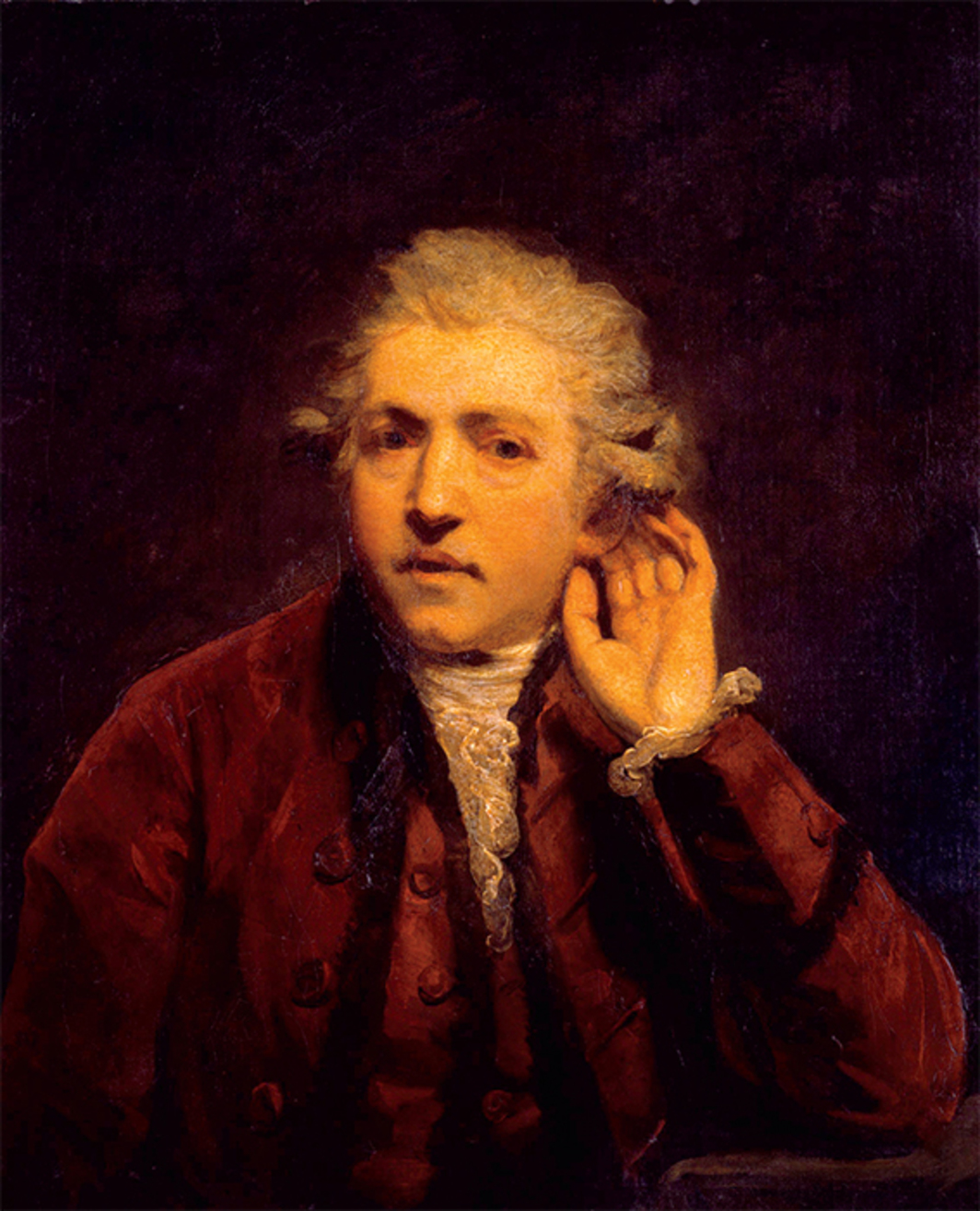 "Sir Joshua Reynolds, Self-Portrait as a Deaf Man, ca. 1775, oil on canvas, 29 1/2 × 24 7/8""."