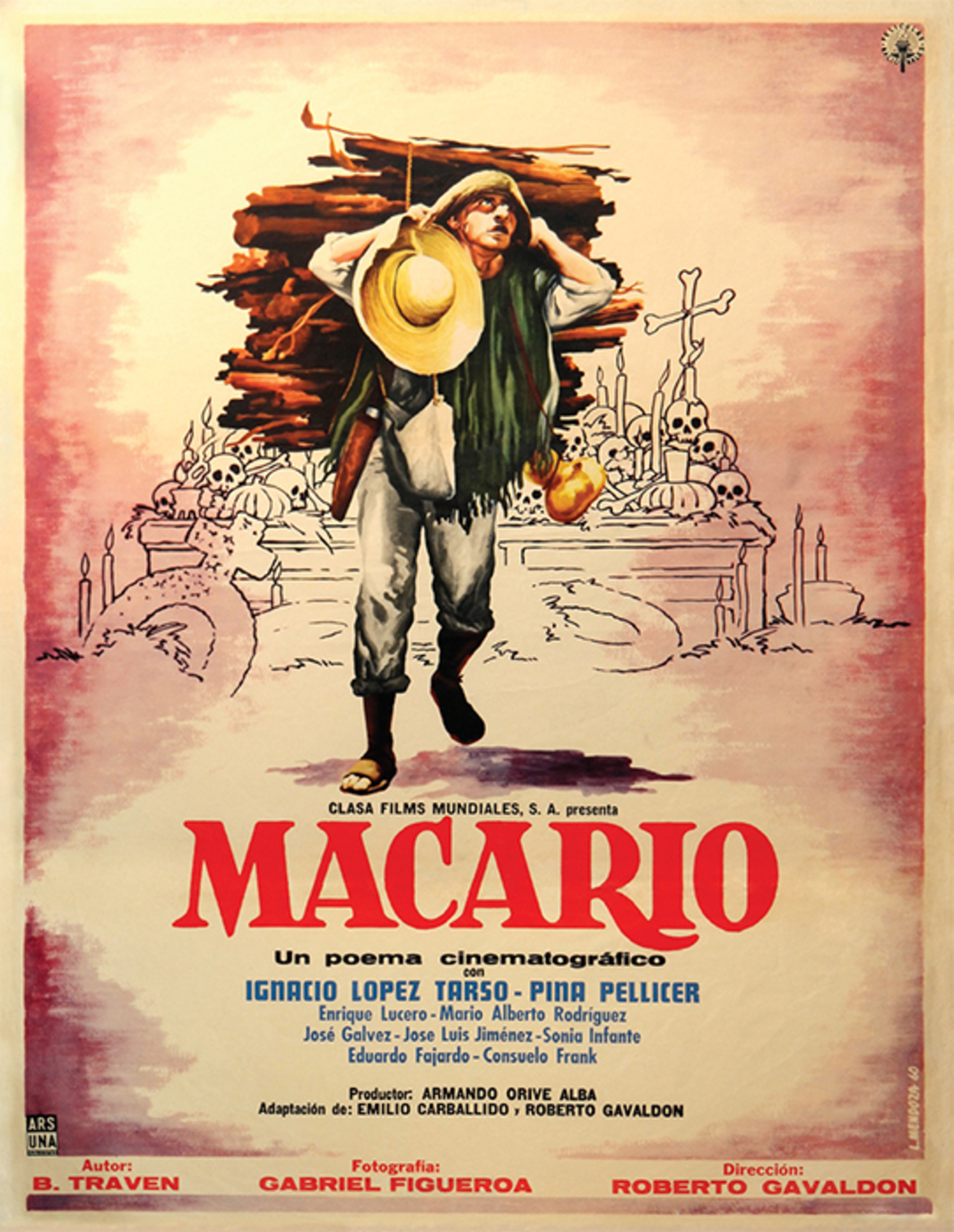 Reproduction of a poster by L. Mendoza for the film Macario, 1960, written by B. Traven.