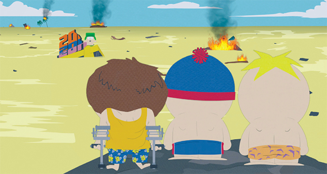 *_South Park_, 1997–*, still from a TV show on Comedy Central. Season 13, episode 14.
