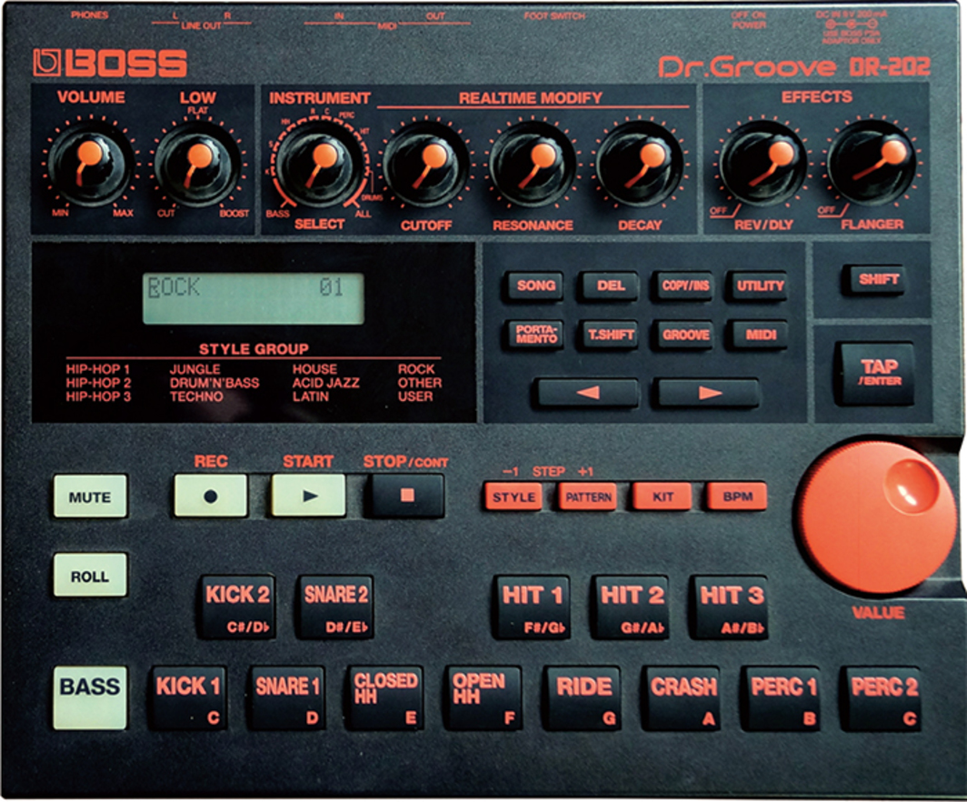 *Boss DR-202 Dr. Groove drum machine, 1998.*