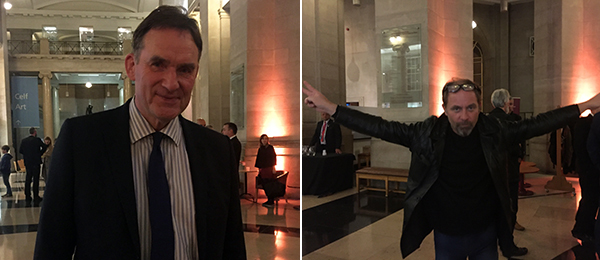 Left: David Anderson, director general of National Museum Wales. Right: Artist Neale Howells.