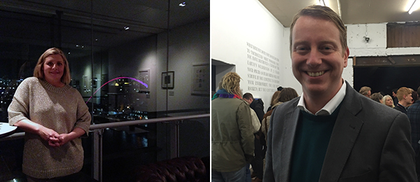 Left: Julia Bell, Baltic's head of partnerships and coordinator of the North East Contemporary Visual Arts Network. Right: Cardiff Council leader Phil Bhale.