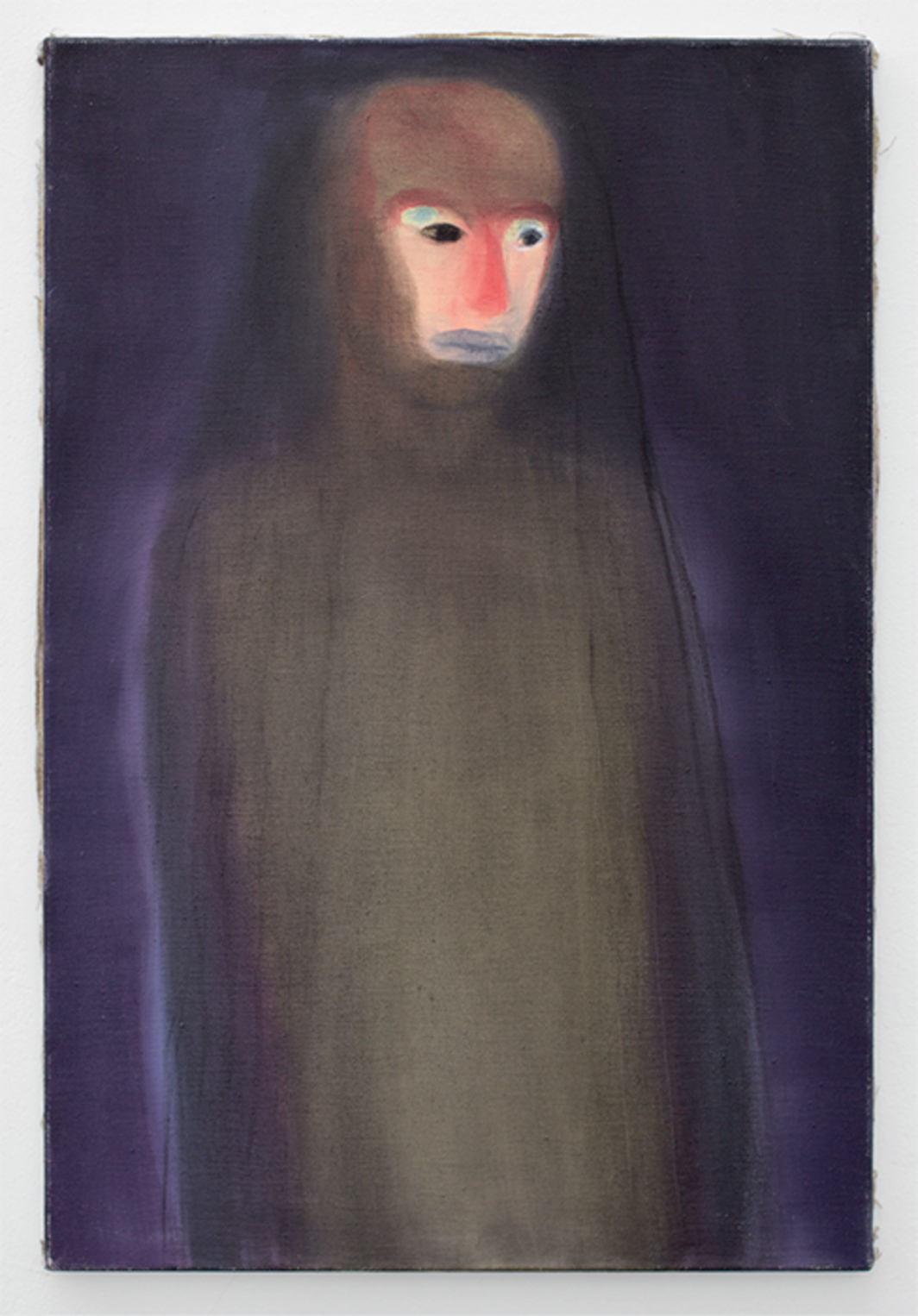 "Miriam Cahn, Verhüllt (Covered), 2007, oil on canvas, 31 1/2 × 20 7/8""."