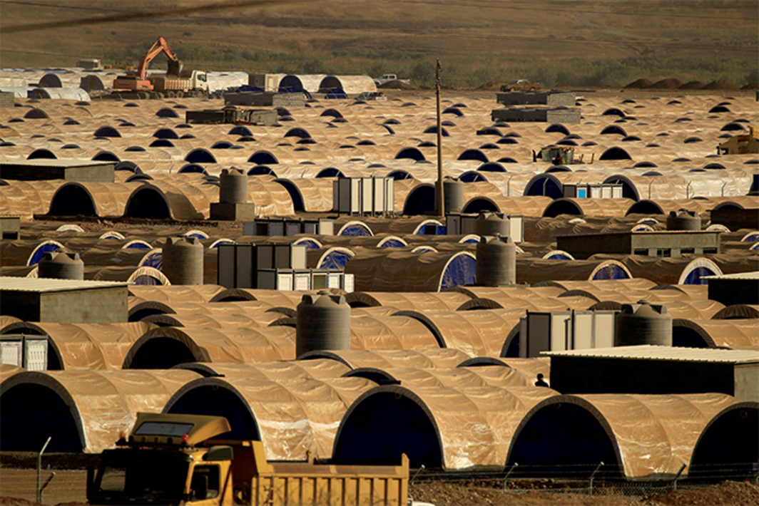 Al Khazar refugee camps, Hassan Sham, Iraq, October 26, 2016. Photo: Zohra Bensemra/Reuters.