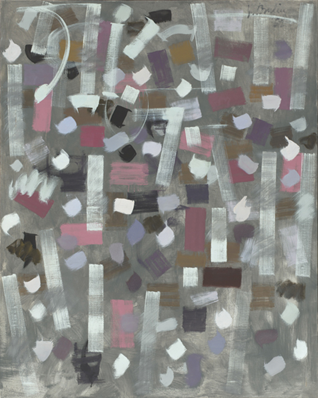 "Bradley Walker Tomlin, Number 4, 1952–53, oil on canvas, 60 × 48""."