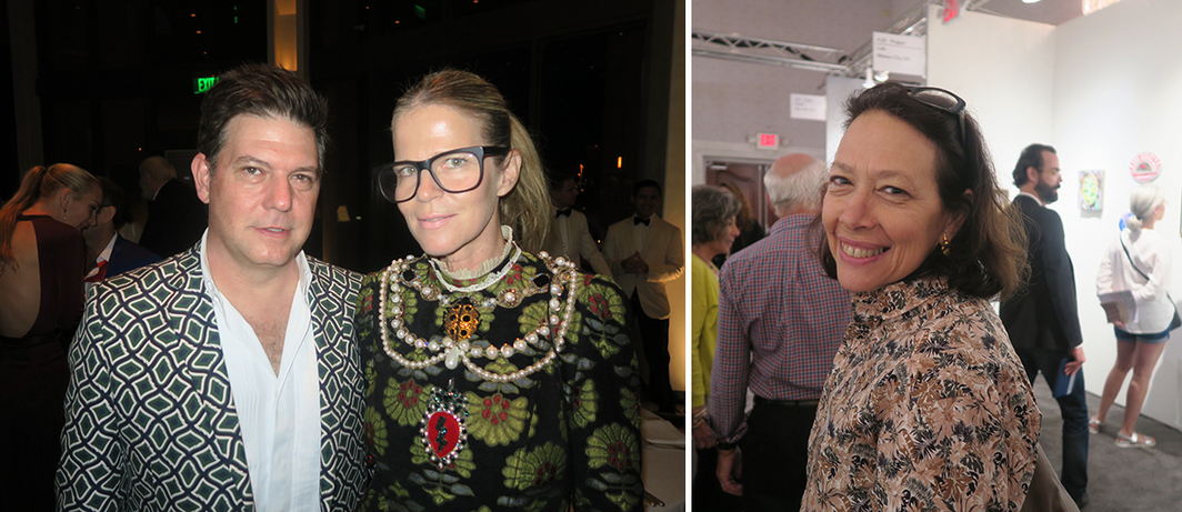 Left: Artist Leo Villareal and Art Production Fund cofounder Yvonne Force Villareal. Right: Bronx Museum director Holly Block.