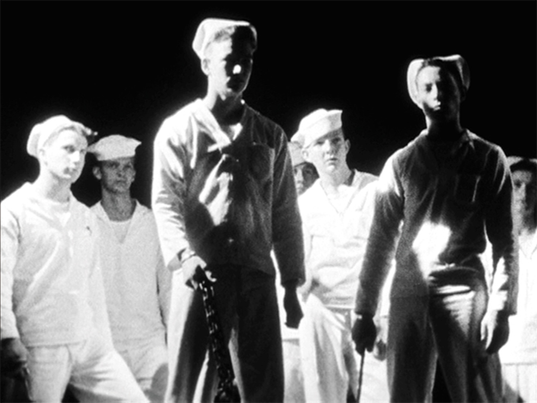 Kenneth Anger, Fireworks, 1947, 16 mm, black-and-white, sound, 15 minutes. United States Navy sailors.
