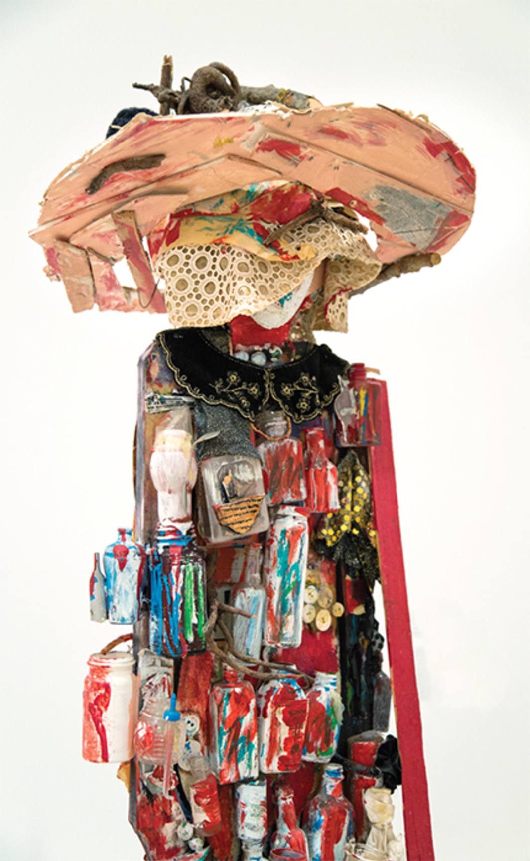 "Beverly Buchanan, Medicine Woman (detail), ca. 1993, found-object assemblage, 75 × 23 3/4 × 16 1/2"". Photo: Chandra Glick."