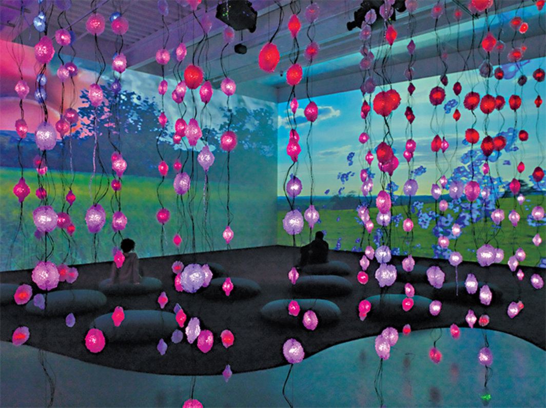 Pipilotti Rist, Pixelwald (Pixel Forest), 2016, mixed media. Installation view. Photo: Maris Hutchinson.