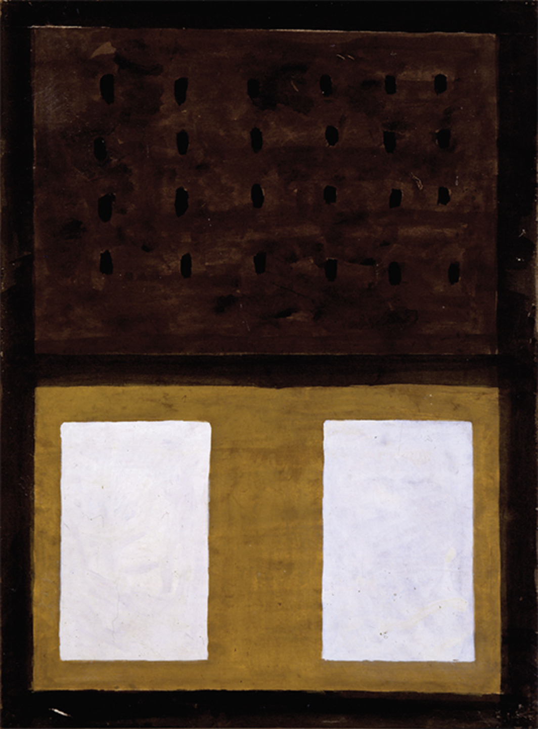 "Agnes Martin, The Book, 1959, gouache and ink on paper mounted on canvas, 24 × 17 7/8"". From ""Between Land and Sea: Artists of the Coenties Slip."" © Agnes Martin/Artists Rights Society (ARS), New York."