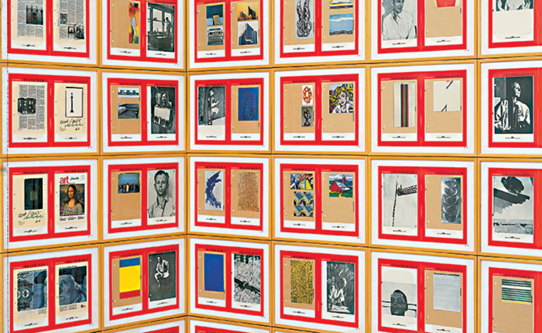 Hanne Darboven, Kulturgeschichte 1880–1983 (Cultural History 1880–1983) (detail), 1980–83, 1,590 framed works on paper in various media, nineteen sculptures. Installation view, Dia Center for the Arts, New York, 1996–97. Photo: Bill Jacobson. © Hanne Darboven Foundation, Hamburg/ Artists Rights Society (ARS), New York, VG Bild-Kunst, Bonn.