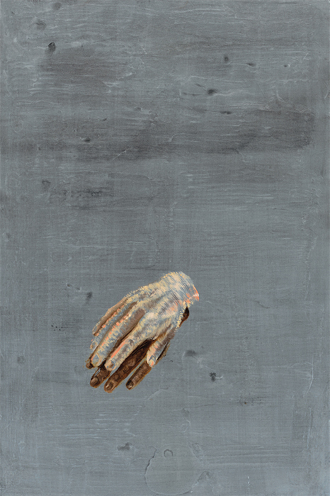 "Ena Swansea, Tiny Plastic Hands, 2016, oil on graphite on linen, 20 × 30""."