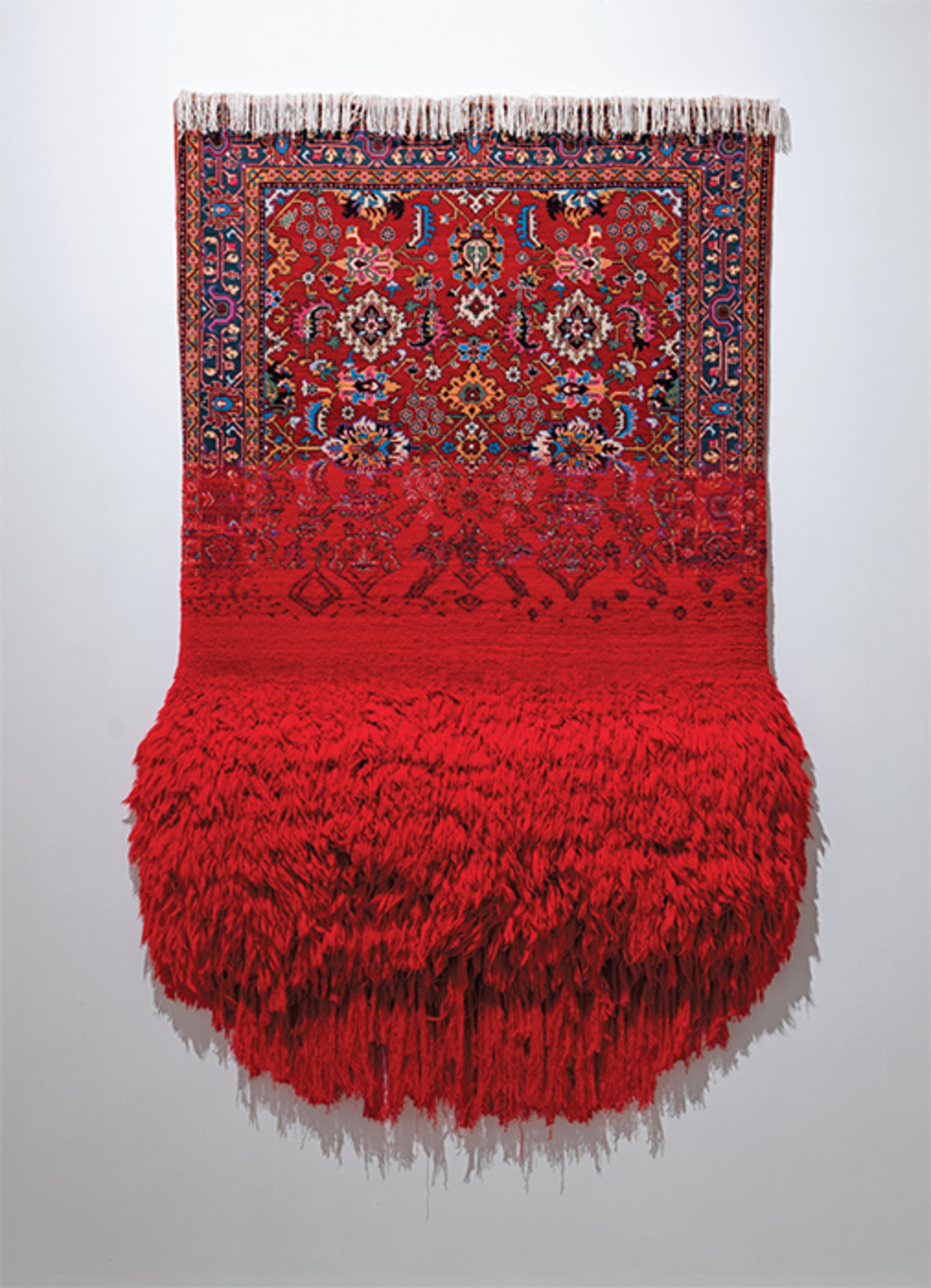 "Faig Ahmed, Bakirə (Virgin), 2016, wool carpet, 118 1/8 × 59""."