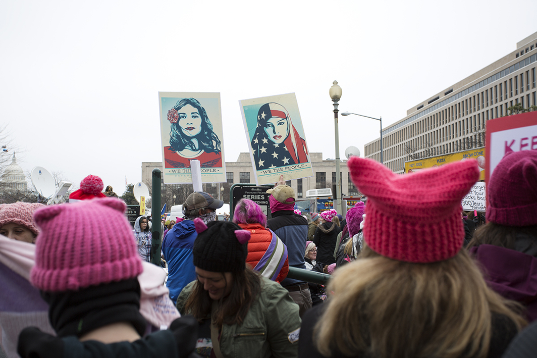 Women's March, January 21, 2017, Washington, DC. Photo: Mariah Robertson.