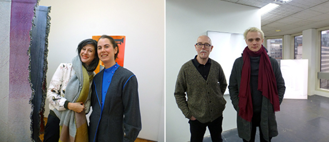 Left: Dealers Simone Subal and Emma Robertson at The Approach. Right: Dealers David Godbold and Jackson Bateman at Project Native Informant.
