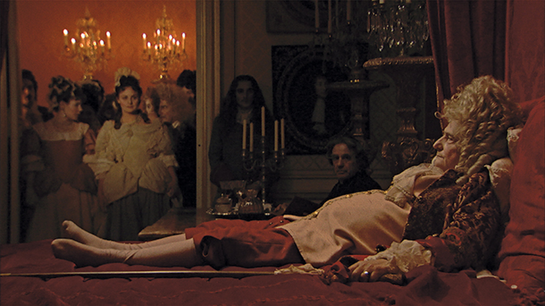 Albert Serra, La mort de Louis XIV (The Death of Louis XIV), 2016, HD video, color, sound, 115 minutes. Louis XIV (Jean-Pierre Léaud).