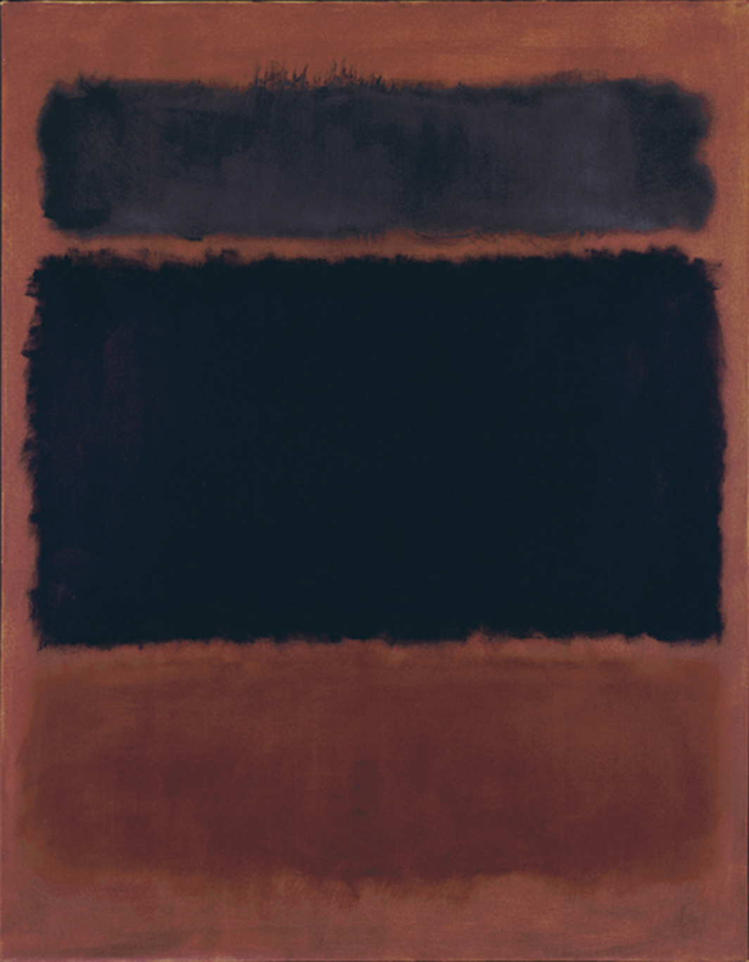 "Mark Rothko, Black in Deep Red, 1957, oil on canvas, 69 3/8 × 53 3/4"". © Kate Rothko Prizel & Christopher Rothko/Artists Rights Society (ARS), New York. Photo: The Mark Rothko"