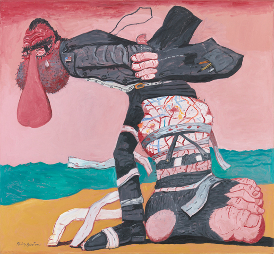 "Philip Guston, San Clemente, 1975, oil on canvas, 68 × 73 1/4"". © The Estate of Philip Guston."