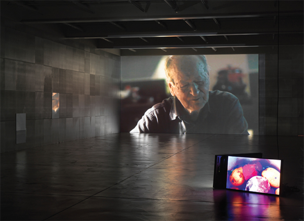 Douglas Gordon, I Had Nowhere to Go, 2016, three-channel video installation, color, sound, 98 minutes. Photo: Stefan Altenburger Photography.