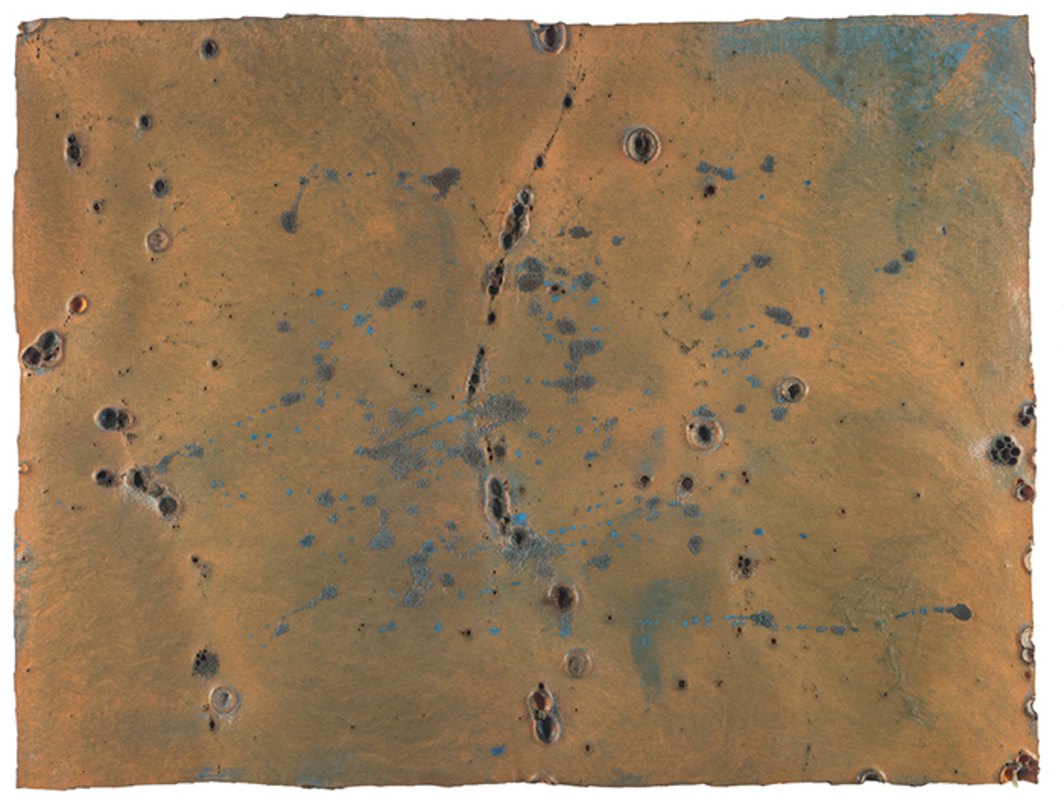 "Giulio Turcato, Superficie lunare (Moon Surface), 1969, oil and mixed media on foam rubber, 23 5/8 × 31 1/2"". From the series ""Superfici lunari"" (Moon Surfaces), 1964–73."