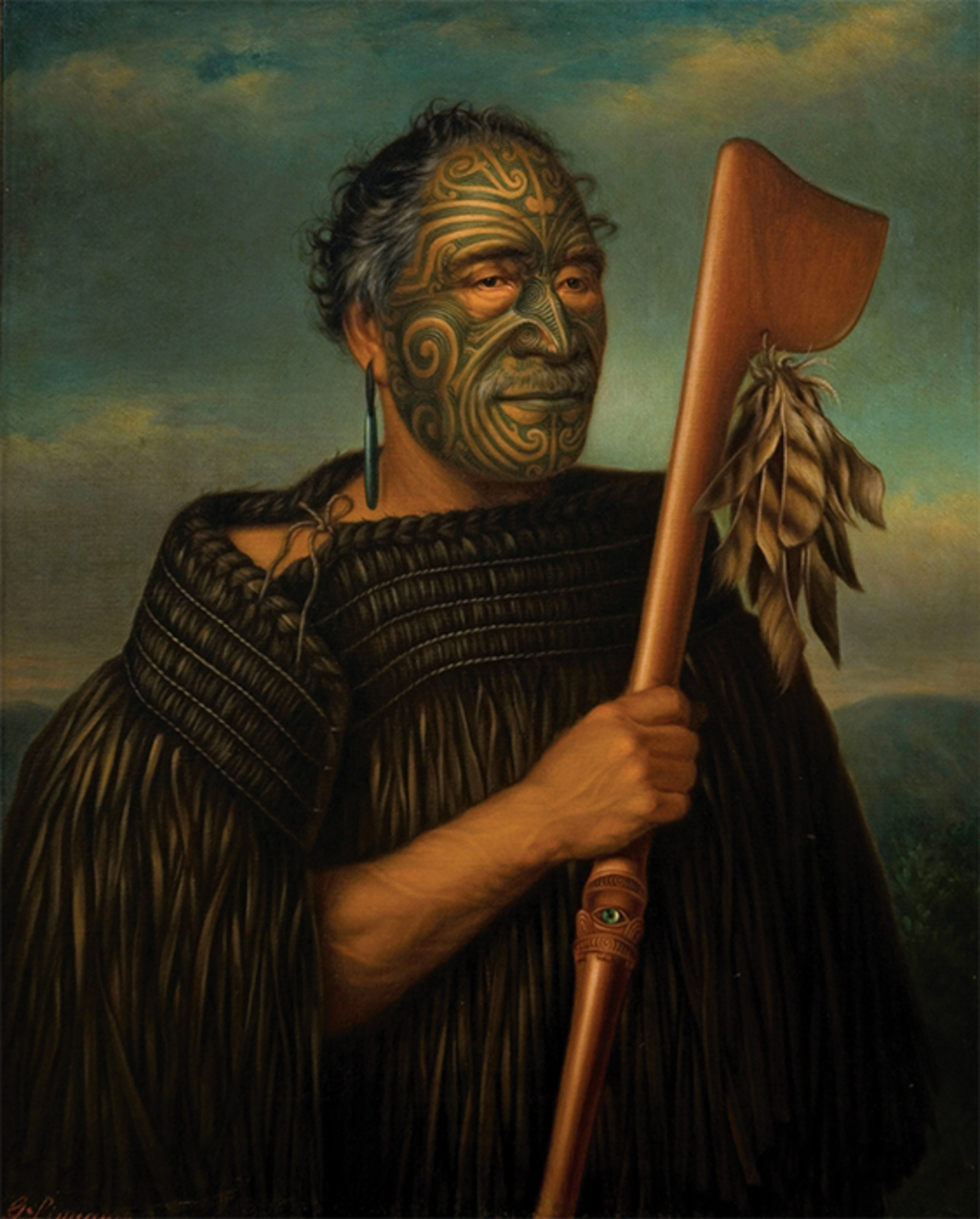 "Gottfried Lindauer, Tamati Waka Nene, 1890, oil on canvas, 40 1/8 × 33 1/8""."