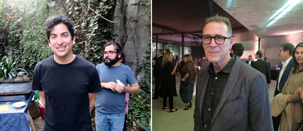 Left: Artist Eduardo Sarabia. Right: Artist James Casebere.