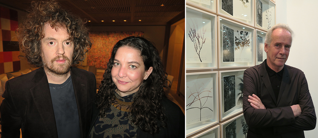 Left: Artist Jonah Freeman and Artadia executive director Carolyn Ramo. Right: Artist Jan Hendrix.