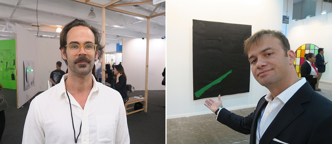 Left: Curator and dealer Chris Sharp. Right: Dealer Georges Armaos.