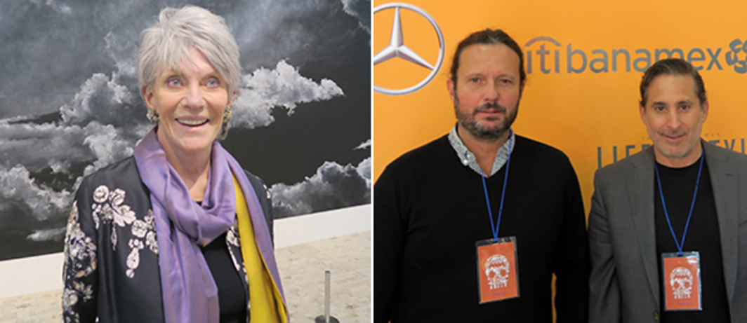 Left: Collector Suzanne Cochran. Right: Collector Eduardo Prieto and hotelier Moisés Micha.