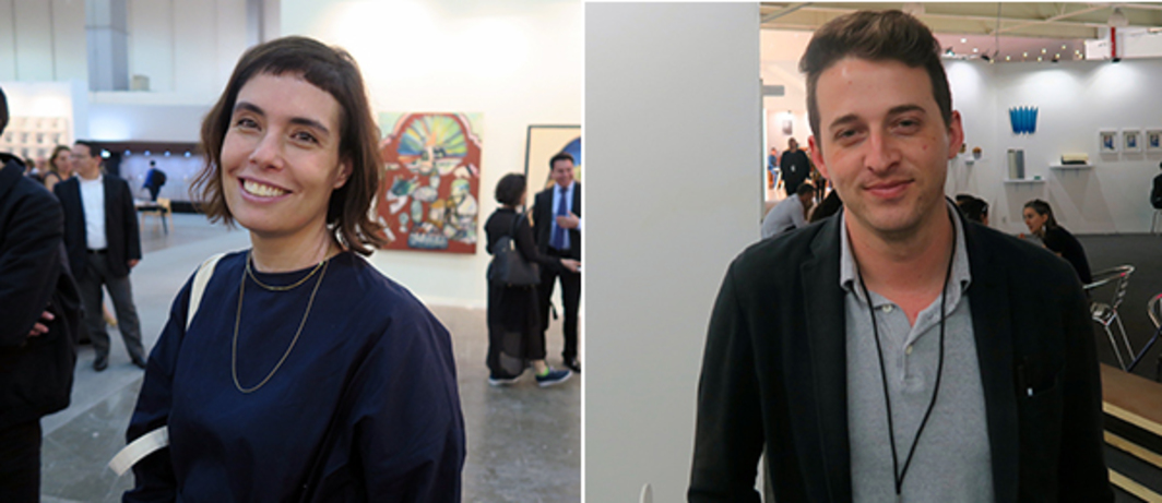 Left: Curator and PAC (Patronato de Arte Contemporáneo) director Mariana Munguia. Right: Dealer Tyler Park.