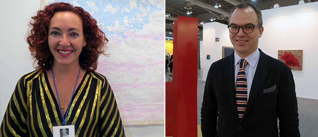 Left: Dealer Karen Huber. Right: Dealer Nils Staerk.