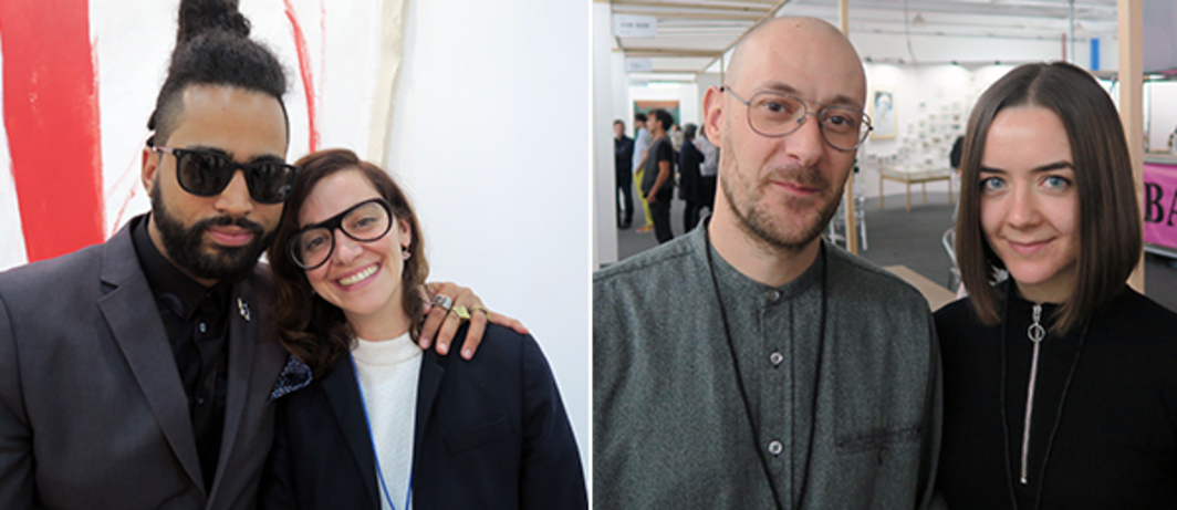 Left: Dealers Danny Baez and Marta Fontolan. Right: Dealers Hunter Bradley and Amelia Szpiech.