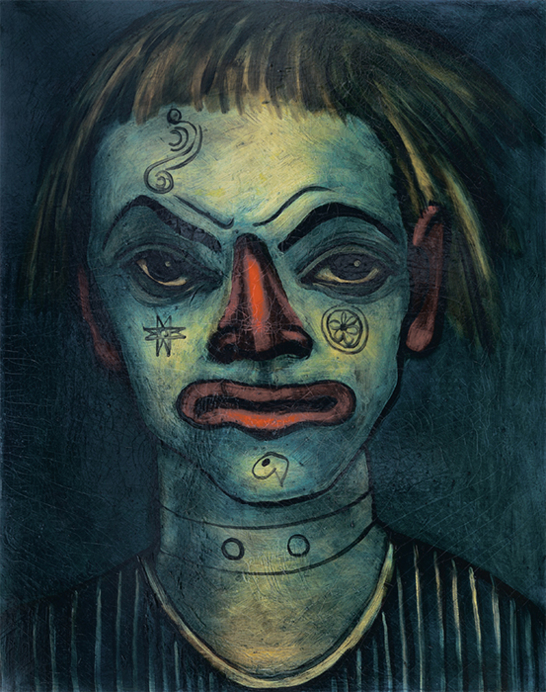 "*Francis Picabia, _Le Clown Fratellini_, 1937–38*, oil on canvas, 36 1/4 × 28 3/4"". © Artists Rights Society (ARS), New York/ADAGP, Paris."
