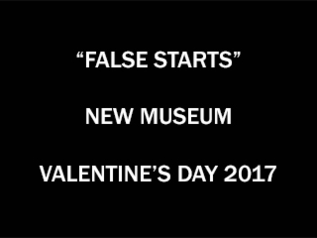 "Bookforum's ""False Starts"" Valentine's Day Reading at the New Museum, 2017"