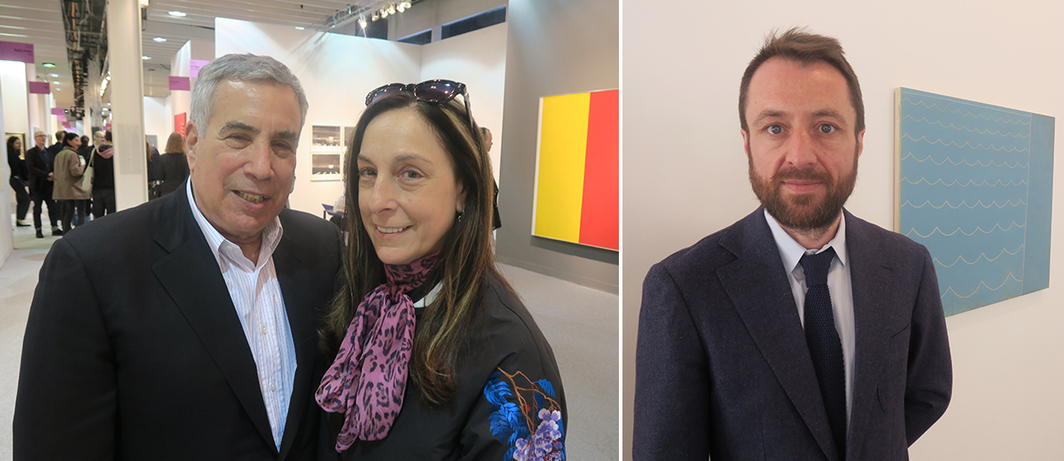 Left: Collectors Phil Aarons and Shelley Fox Aarons. Right: Dealer Olivier Babin.