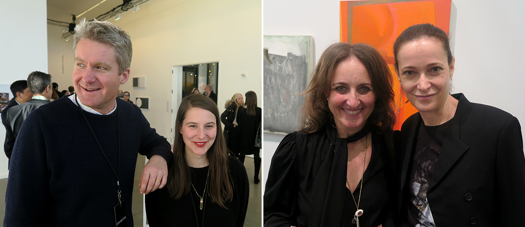 Left: Modern Institute dealers Toby Webster and Marta Perovic. Right: Dealers Rebecca Camhi and Jeanne Greenberg Rohatyn.