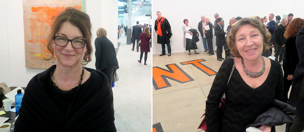 Left: Dealer Susanne Vielmetter. Right: Curator Caroline Bourgeois.