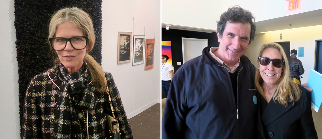 Left: Art Production Fund cofounder Yvonne Force Villareal. Right: Curator Brian Wallis and New Museum director Lisa Phillips.