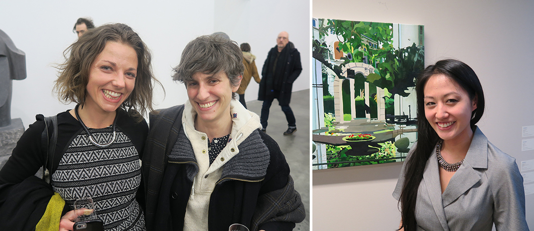 Left: MFA Boston curator Liz Munsell and Queens Museum curator Larissa Harris. Right: Dealer Teriha Yaegashi.
