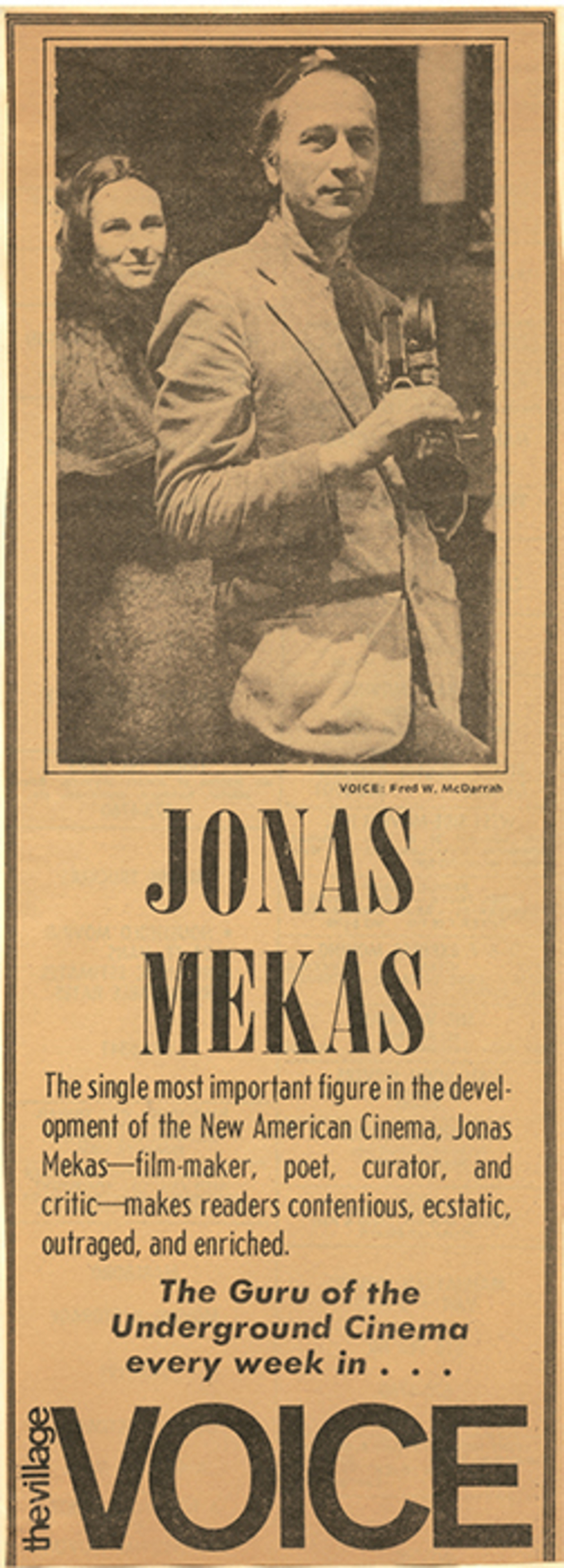 Jonas Mekas's Movie Journal