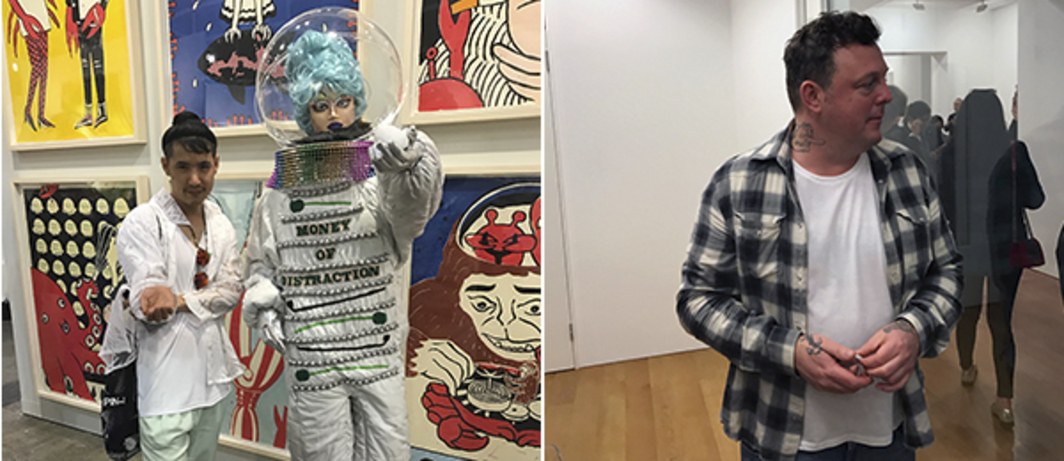 Left: Artist Jon Wang. Right: Artist Urs Fischer.