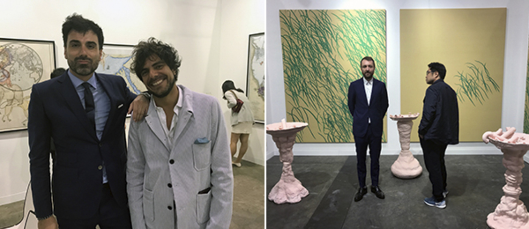 Left: Dealers Philippe Charpentier and Alex Mor. Right: Dealer Olivier Babin.