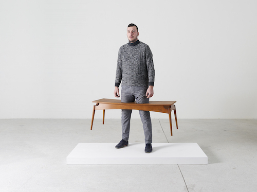 Erwin Wurm, Deep Snow, 2016, instruction drawing and Baker Copenhagen bench, dimensions variable.