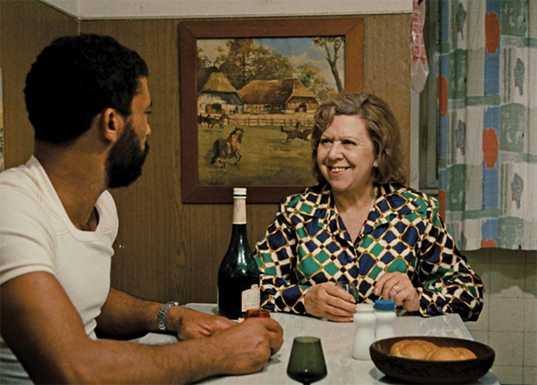 Rainer Werner Fassbinder, Angst essen Seele auf (Ali: Fear Eats the Soul),  1974, 35 mm, color, sound, 93 minutes. Ali (El Hedi ben Salem) and Emmi  Kurowski ...