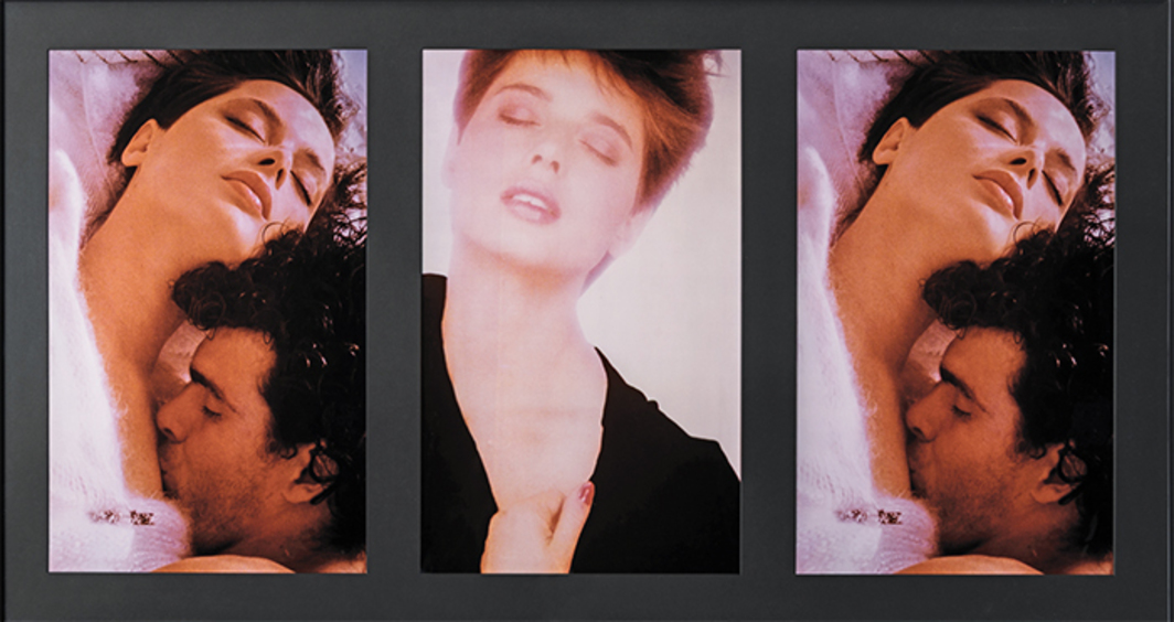 "Vikky Alexander, Ecstasy (detail), 1982, triptych, framed C-prints, overall 24 × 102 3/4""."