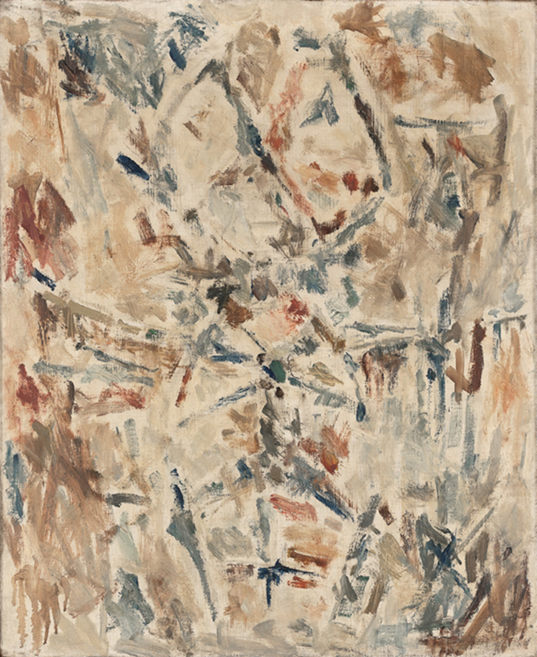 "Ernest Mancoba, Untitled (2), 1963, oil pastel on canvas, 24 × 19 1/2"". © The Estate of Ernest Mancoba and Galerie Mikael Andersen."